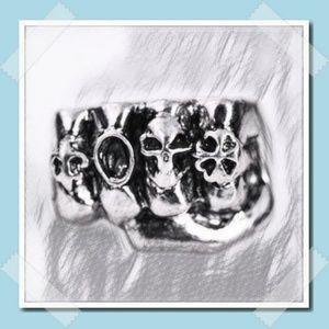Stainless Steel Fashion Biker Design Skulls Ring